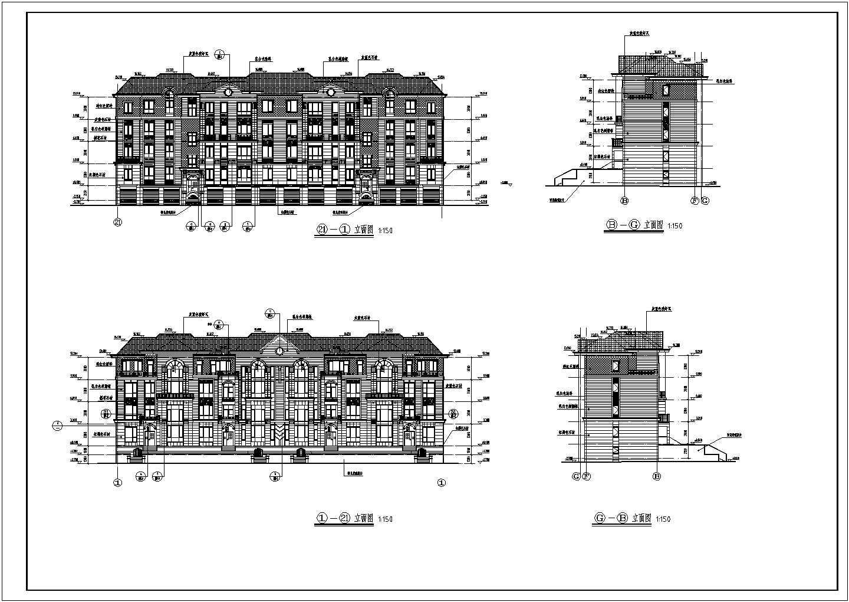 双拼长48.30米 宽13.38米农村自建房建筑施工图