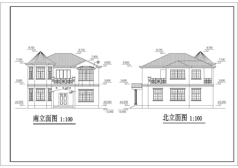 两层长11.60米 宽11.40米农村自建房建筑施工图