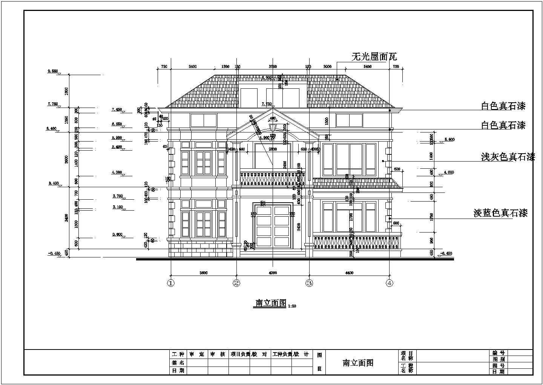 三层长12.00米 宽10.80米农村自建房建筑施工图