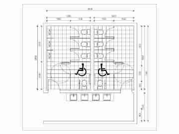 无障碍厕所cad,无障碍厕所cad大全免费下载cadv厕所规范装饰图片