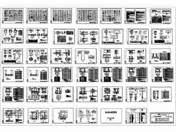 【建筑图纸cad图纸下载】建筑电气cad图纸大47ak模电气纸图片