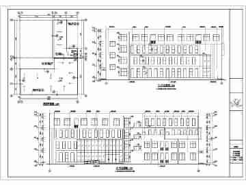 德阳4层砼框架结构青少年宫建筑施工图cadv框架的上室内设计在图片
