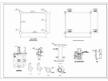 加油站门头v螺母螺母图纸免费下载_CO精华在角4焊接图纸土木图片
