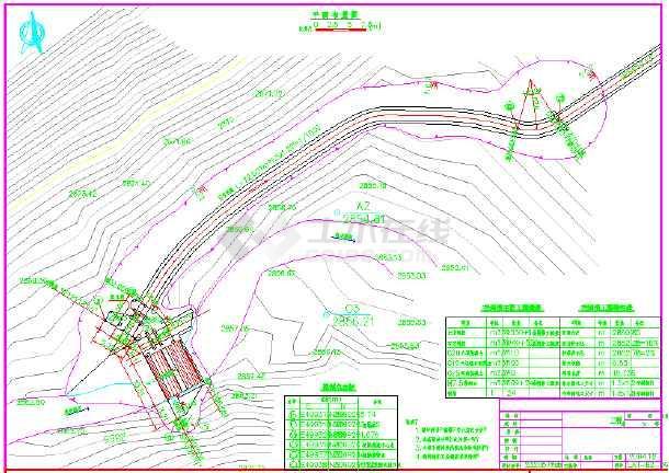 某地区拦河坝全套图纸设计施工图纸管理规范水利v全套图片