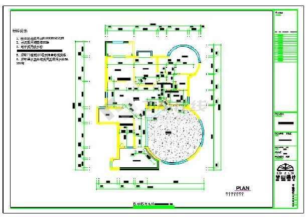 某两层中式别墅建筑设计cad平面图图片