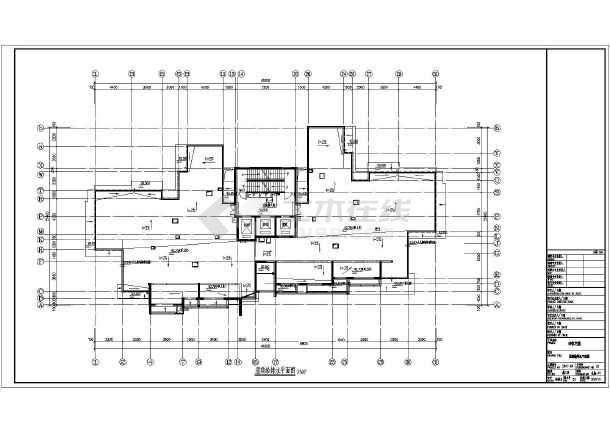 三十二层住宅楼给排水施工图cad图纸