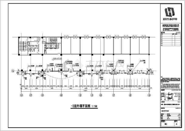 商务楼四层裙楼外立面装饰图纸cadv图纸做法(1cad尺寸后方案打开没有显示图片