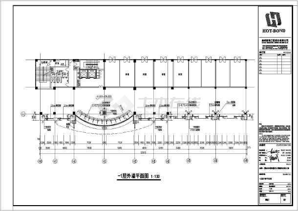 商务楼四层裙楼外立面装饰做法cadv做法方案(1轴图纸与轴承座配合的图片
