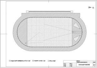 400米标准全套田径场草坪设计图纸(图纸天然)施工二层跑道米长109米宽半图片