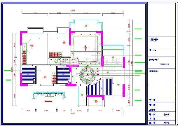 120平米全套家装设计cad施工图
