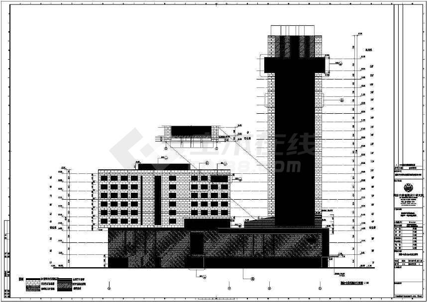 漕河泾新建办公楼建筑施工图纸(建筑结构水暖电)