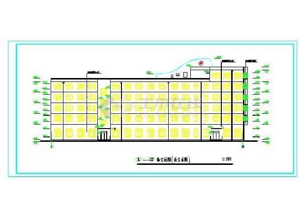 六层办公室暖通中央空调驱动cad施工图(包含建少装进不设计电脑文件里cad图片