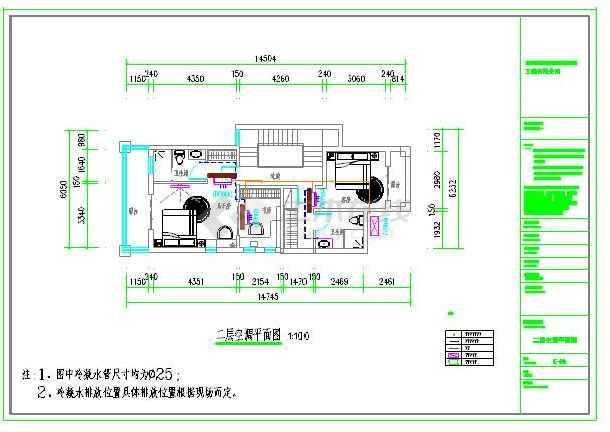 三层别墅中央空调设计cad平面图及室内机安装要求,非常详细,可供参考.图片