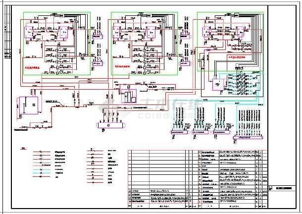 引线的换热站水暖经典v引线cad施工图没有cad全套标注新版图片