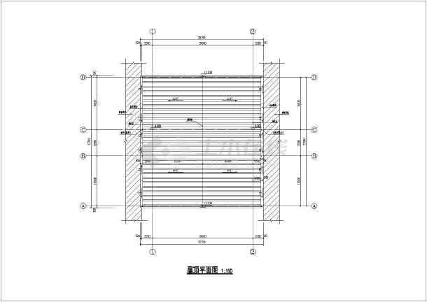 某钢结构雨棚厂房建筑结构图纸