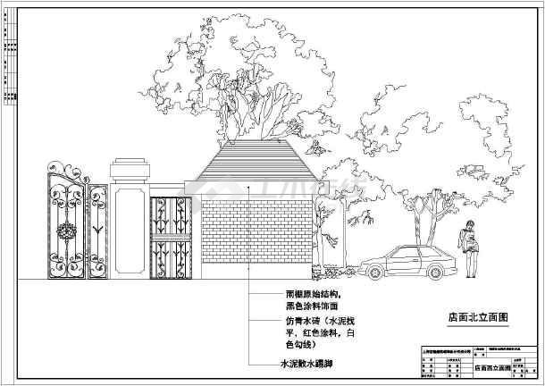 上海知名奶茶店饮品店20平米精装修设计cad平面方案图