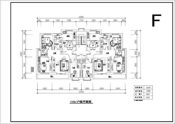 主流经典60到140平方米户型图设计施工cad平面布置图