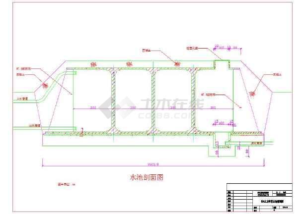500m3圆蓄水池结构设计cad施工图_蓄水池设计