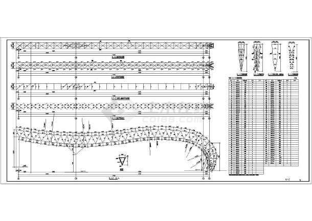 雨棚设计 某车站雨棚钢结构设计cad施工图