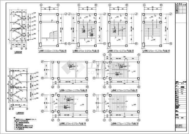 2400平方米框架结构三层9班幼儿园设计全套建筑结构施工图