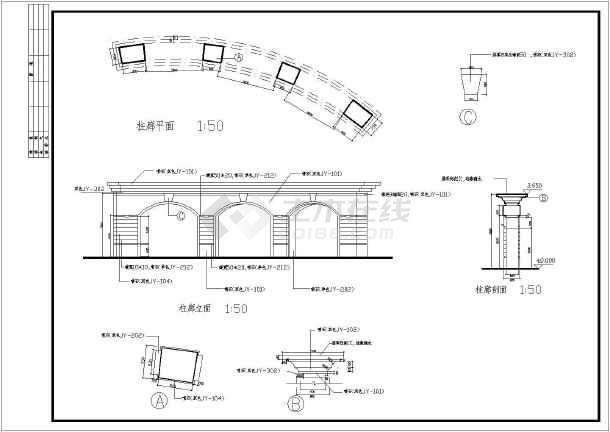 某花园环境工程园林设计cad竣工图(标注详细)