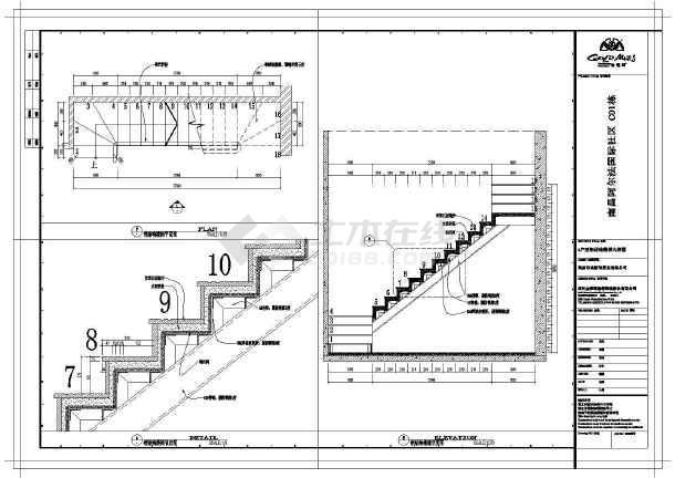 钢结构楼梯平面图,钢结构楼梯立面图,钢结构楼梯节点图等.