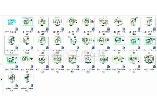 很实用的32个单元式住宅户型平面图