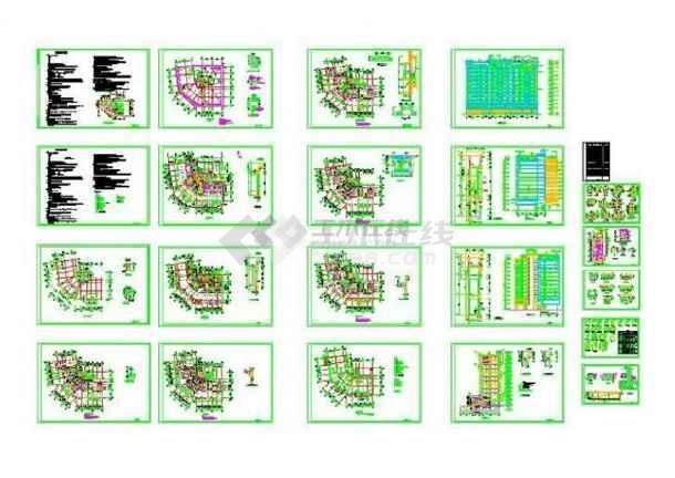 【非常实惠】最新派送且最全的比较实用的48套建筑设计CAD整合_商住楼设计施工图_酒店建筑设计施工图_办公楼设计_厂房建筑设计_图集下载-图1