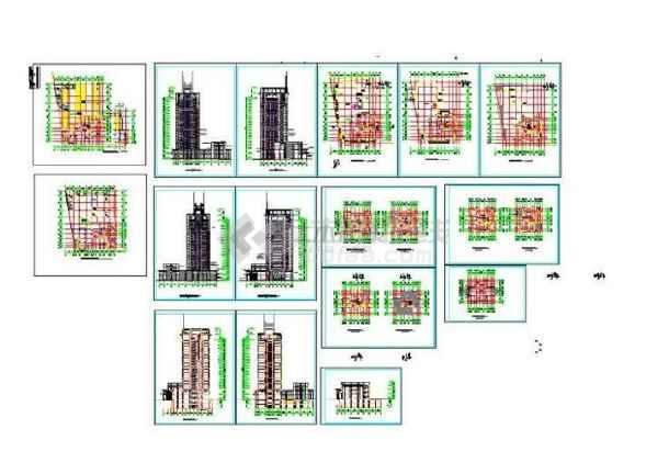【非常实惠】最新派送且最全的比较实用的48套建筑设计CAD整合_商住楼设计施工图_酒店建筑设计施工图_办公楼设计_厂房建筑设计_图集下载-图2