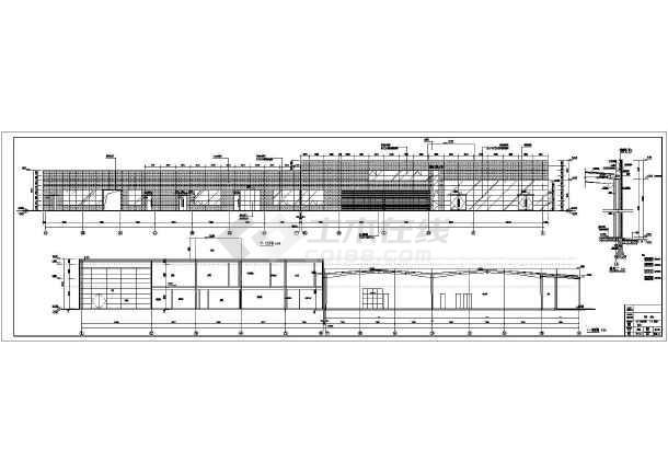 设计施工图_门窗幕墙设计施工详图_6400平方米4s店钢结构设计全套建筑
