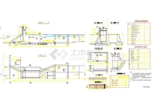 灌区泄水闸设计及进水闸初步设计cad图(标注齐全)