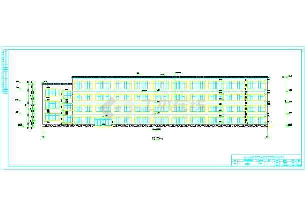 6800平米四层教学综合楼建筑、结构全套设计图(现浇框架结构)毕业设计(计算书、建筑结构图、精美毕业答辩演示PPT、摘要、翻译、目录、说明、附专题研究报告、)-图1