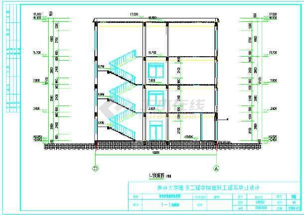6800平米四层教学综合楼建筑、结构全套设计图(现浇框架结构)毕业设计(计算书、建筑结构图、精美毕业答辩演示PPT、摘要、翻译、目录、说明、附专题研究报告、)-图2