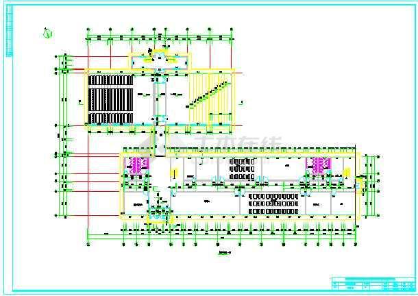 6800平米四层教学综合楼建筑、结构全套设计图(现浇框架结构)毕业设计(计算书、建筑结构图、精美毕业答辩演示PPT、摘要、翻译、目录、说明、附专题研究报告、)-图3