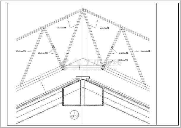钢结构采光顶棚结构设计cad图纸