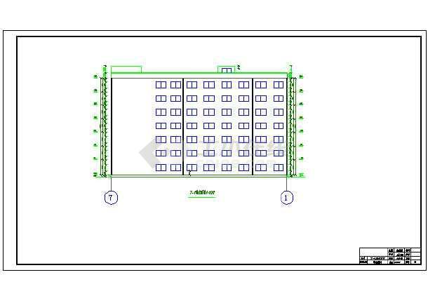 7200平米七层教学综合楼建筑、结构设计全套图(框架结构)毕业设计(计算书、任务书、封面、翻译、综述、摘要、开题报告、图纸)-图1