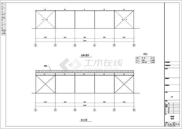 某单层钢结构单跨单山三角形屋架建筑图纸