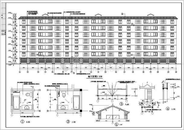 120平米住宅及错层建筑cad施工图 带效果图