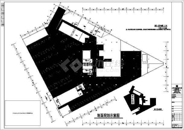 某车库地下平面建筑施工酒店图纸(CAD)cad框无法大拾取调图片
