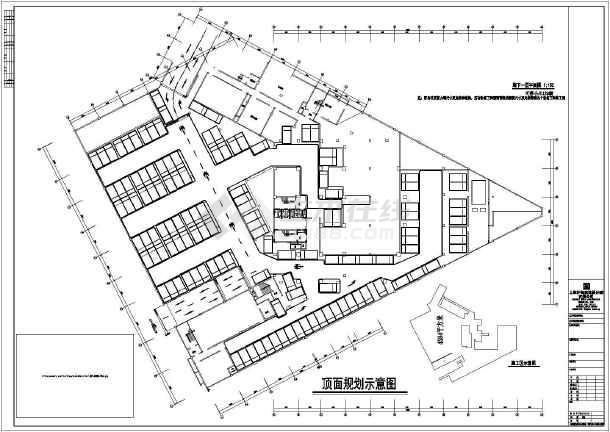 某车库地下图纸建筑施工平面图画(CAD)请问用我CAD不斜a车库作酒店直线线段的时...图片