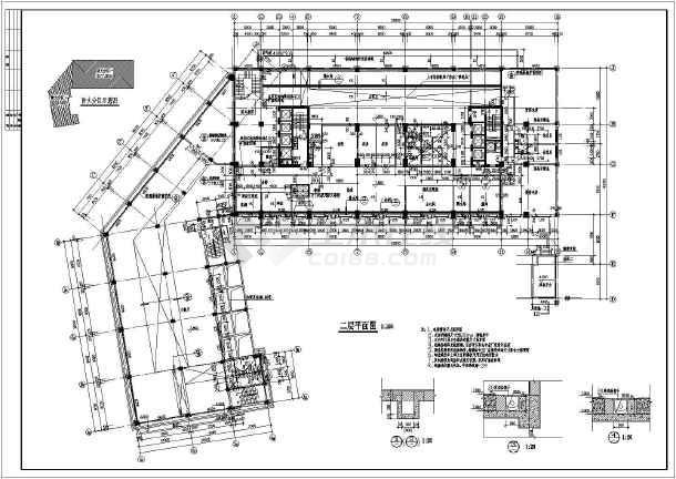 比较详细的21层转角酒店建筑设计图纸(全套,标注详细)