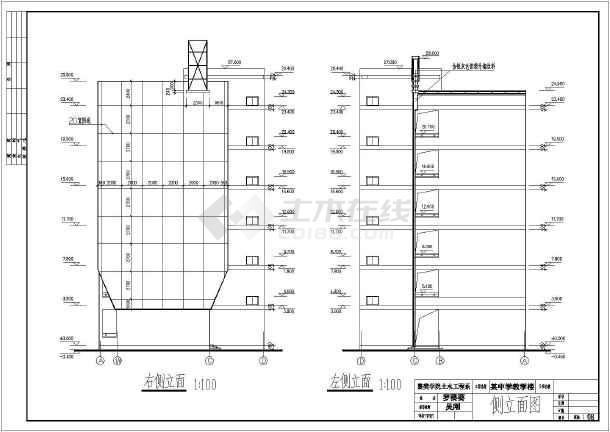 3600平米六层中学教学楼建筑、结构设计全套图(框架结构)毕业设计(含计算书,图纸,实习报告,任务书,开题报告,目录,摘要,翻译,封面,)-图2