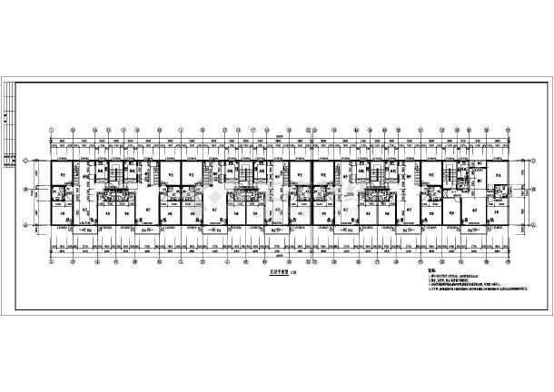 经典现代一梯两户单元式6层住宅楼全套CAD建筑图