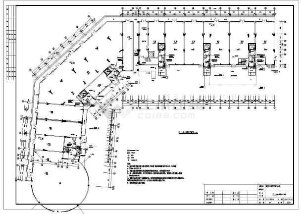 某小区住宅楼电气智化弧形cadv小区施工图_cad怎么工程字变成把图片