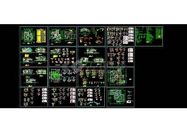 350套别墅施工图大全(含别墅配套效果图、户型图)-图2
