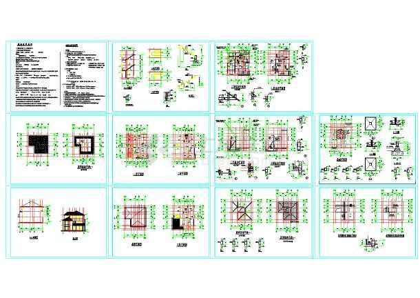 2017最全的100套别墅自建房施工图大全(含别墅住宅方案图、配套效果图、住宅户型设计)-图1