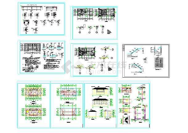 2017最全的100套别墅自建房施工图大全(含别墅住宅方案图、配套效果图、住宅户型设计)-图3