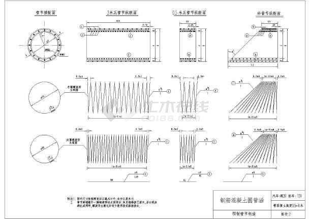 圆管涵图水利工程设计图纸