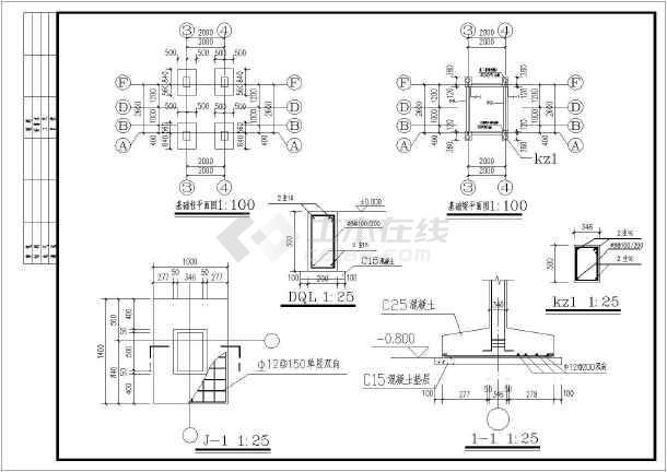 岗亭设计(带结构基础)-图1