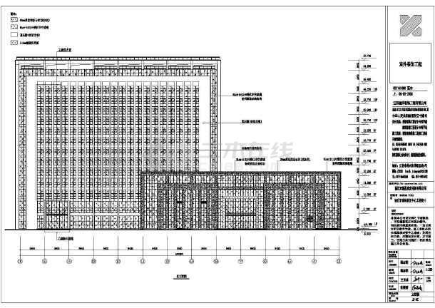 某13层体检中心外墙真石漆设计施工零件含幕铣工图纸图纸图片